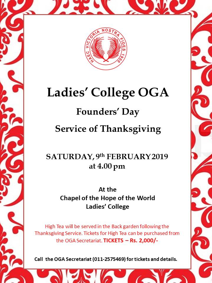 Founders' Day Thanksgiving Service